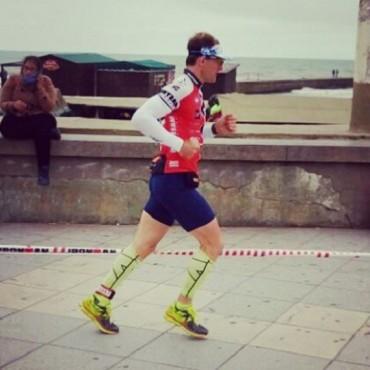Cirilo Tenca compitió en el Iron Man de Mar del Plata