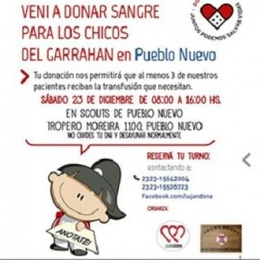 Donación de sangre para el Hospital Garrahan