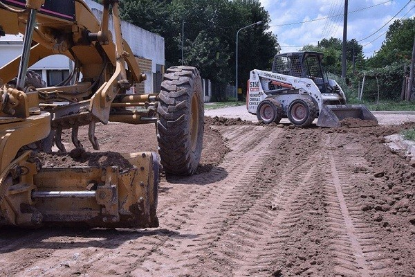Retomaron las obras en el barrio Ameghino