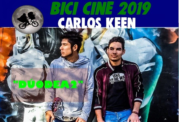 Bicicine y artistas en el Centro Cultural de Carlos Keen