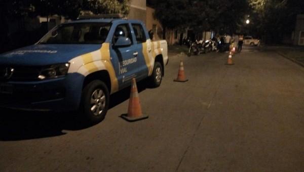 Controles nocturnos vehiculares en Luján