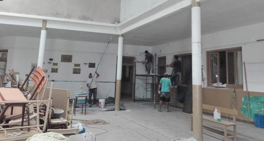 Etapa final de las obras en dos escuelas de Luján