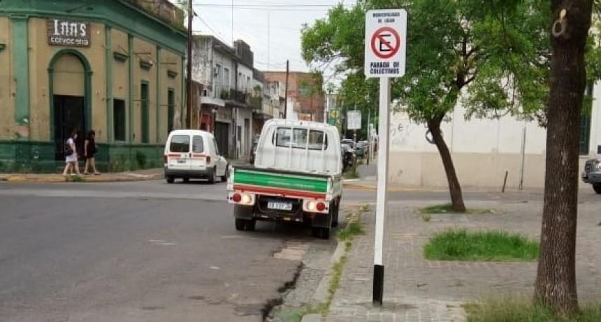 Señalización vial en la zona histórico-basilical