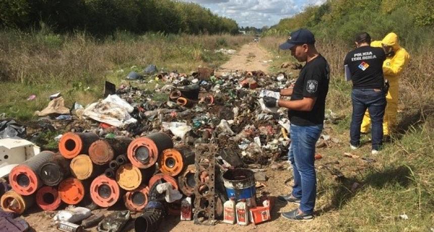 Detectaron vuelco ilegal de residuos