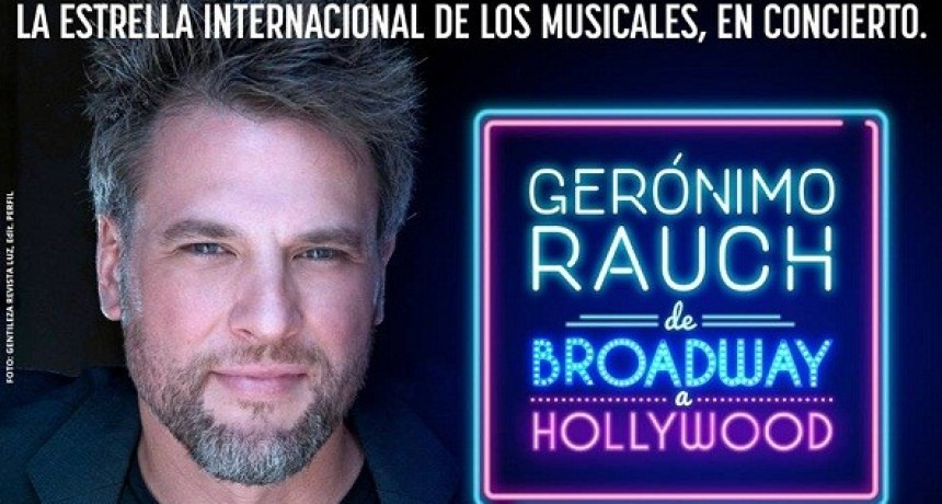 Gerónimo Rauch se presentará en el Trinidad Guevara