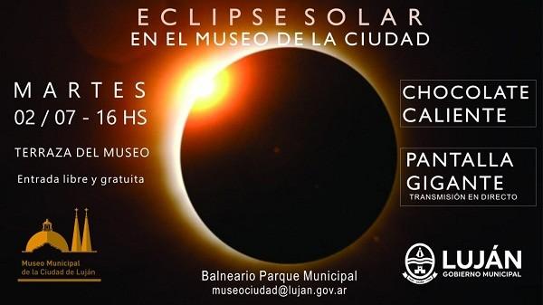El eclipse solar se podrá ver en el Museo de la Ciudad
