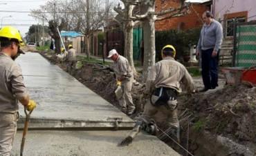 Segunda etapa de pavimentación de la calle San Roque
