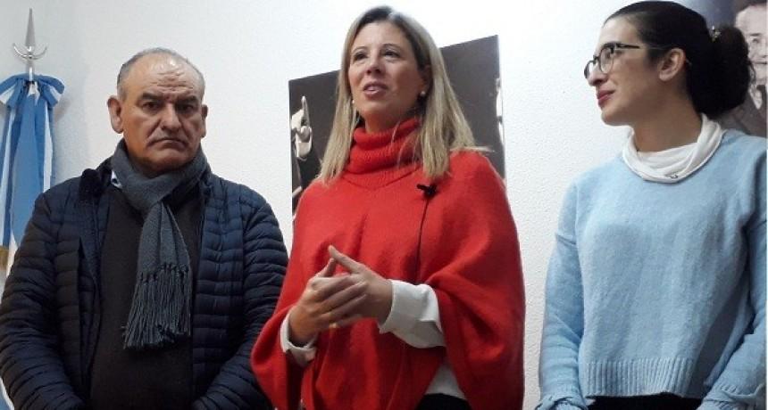 Daniela Aruj estuvo en Luján acompañando a Juan Carlos Juárez