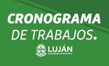 Cronograma de trabajos en Luján durante el mes de octubre