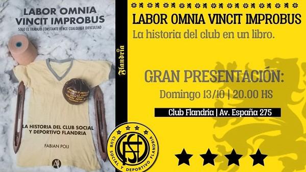 El domingo presentarán el libro oficial de la historia de Flandria