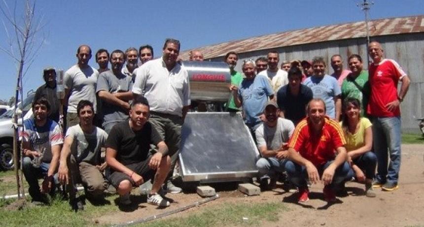 Concluyó el curso de instalación de calefactores solares
