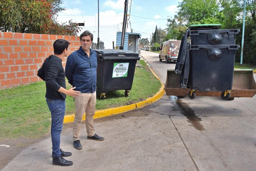 Luján Limpio: el Municipio instaló más de 60 contenedores en Torres