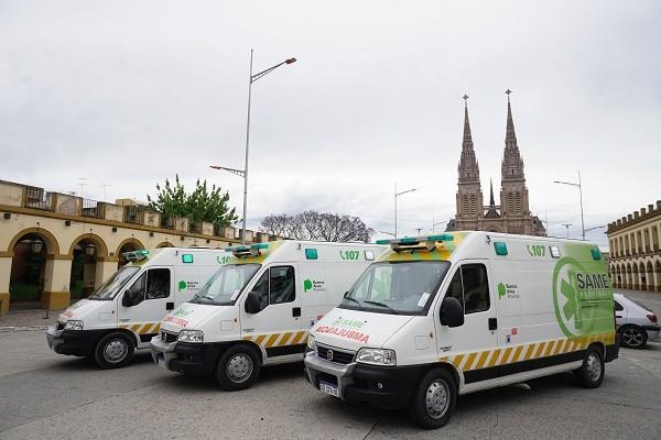 Luján ya cuenta con tres ambulancias del SAME