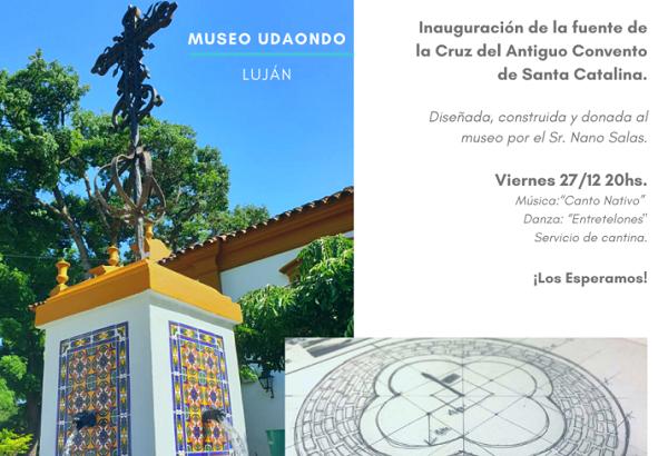 Inauguran la Fuente de la Cruz del Antiguo Convento de Santa Catalina